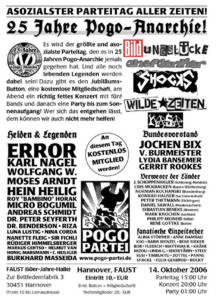 25 Jahre Pogo-Anarchie - am 14.10. in Hannover
